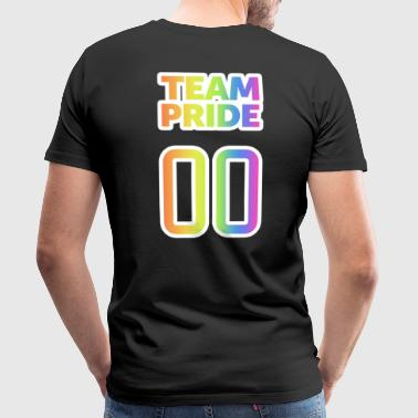 Team Pride 00 - LGBT Gay Pride CSD Rainbow Design - Mannen Premium T-shirt