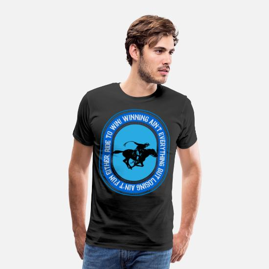 Højre T-shirts - Ride for at vinde, ride for at vinde - Premium T-shirt mænd sort