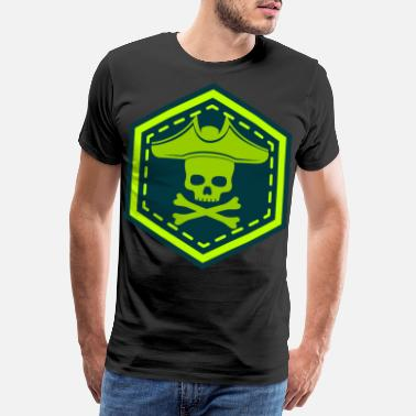 Green And Gold Neon pirate - Men's Premium T-Shirt