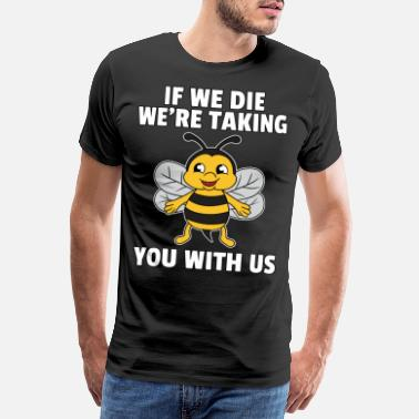 Honey Bee Bee Bees Honey Honey Bee Save Gift - Men's Premium T-Shirt
