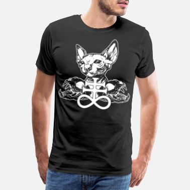 Leviathan Sphinx cat metal cat skull leviathan cross - Men's Premium T-Shirt