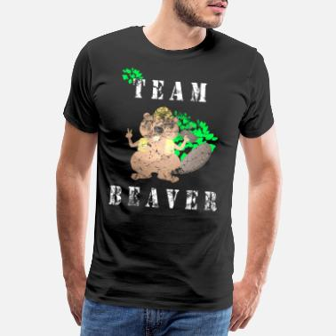 Bieber Beaver animal protection environmental protection gift - Men's Premium T-Shirt