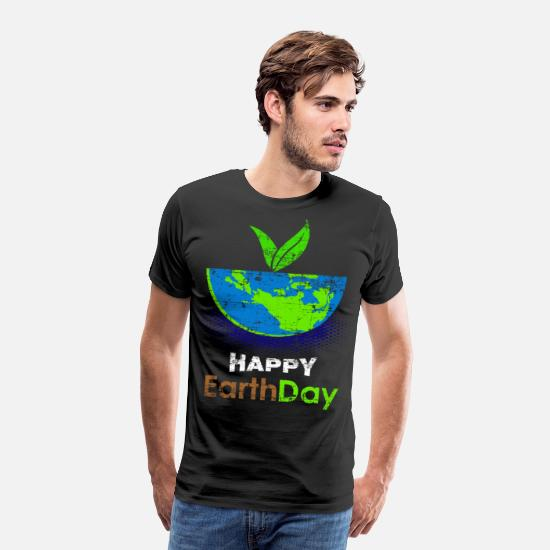 Gift Idea T-Shirts - Earthday Earth and Conservation - Men's Premium T-Shirt black