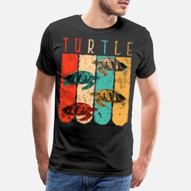 Under Vatten Turtle retro - Premium T-shirt herr