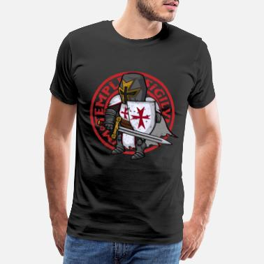 Templar Knights Crusader Knight Christianity Christian Crusade - Men's Premium T-Shirt