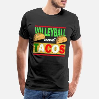 Blok Volleybal Sport Hobby Beachvolleyball Party Beach - Mannen premium T-shirt
