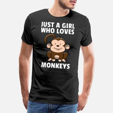 B Day Monkey Monkey Chimpanzee Sweet Funny Gift - Men's Premium T-Shirt