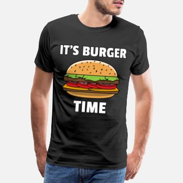 Cheeseburger Burger Fast Food Cheeseburger Hamburger Geschenk - Männer Premium T-Shirt