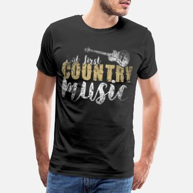 Country Country Music - Männer Premium T-Shirt