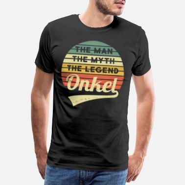 Uncle Uncle Man Myth Legend Vintage Retro - Premium T-shirt mænd