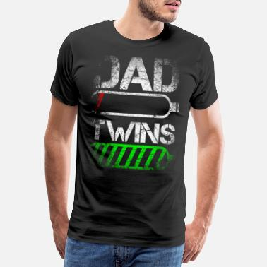 Dad Dad Twins Energy - T-shirt premium Homme