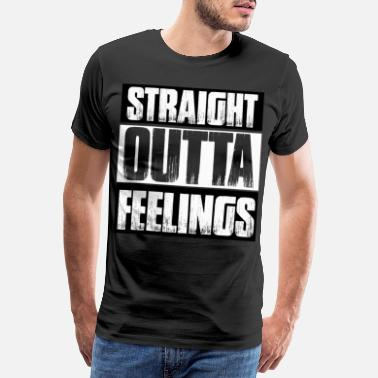 Straight Edge Rett Outta Feelings T-skjorte - Premium T-skjorte for menn