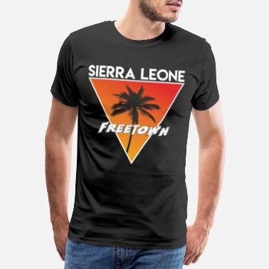Land sierra leone with capital - Men's Premium T-Shirt