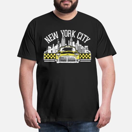 NYC taxi New York gul cab t skjorte gaveide T skjorte for