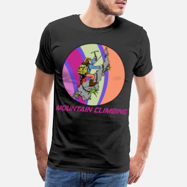 Adrenaline Mountaineering and climbing hobby in a circle - Men's Premium T-Shirt