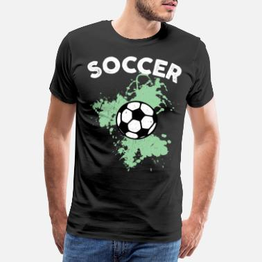 Striker Football watercolor green - Men's Premium T-Shirt