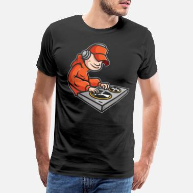 Grammofon BATTLE DJ TURNTABLISM DEEJAY TURNTABLE GAVE - Premium T-shirt mænd