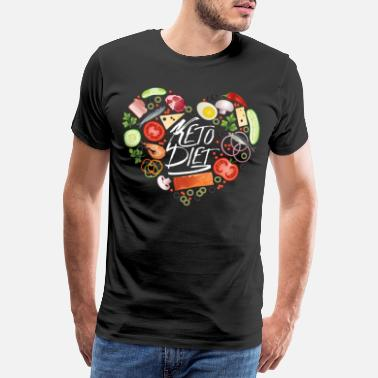 Weight Loss Keto Diet Avocado Egg Ketogenic Ketosis Heart Gift - Men's Premium T-Shirt