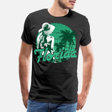 Spring Break Florida Beach Girl Green Paradise - Men's Premium T-Shirt