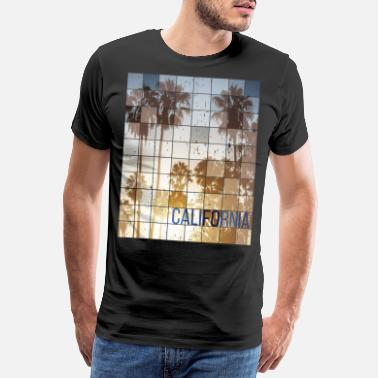 Bikini Californa Sunset Cube Vintage - Men's Premium T-Shirt