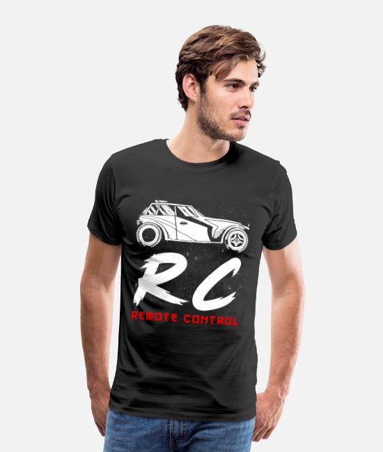 Rc T-Shirts - Rc Remote Control Car Gift for Racing Cars - Men's Premium T-Shirt black