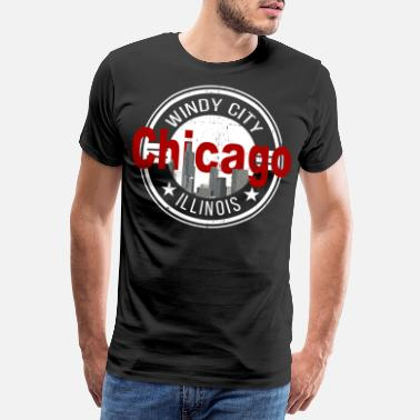 Windy City Chicago Illinois Windy City Vintage - Premium T-shirt herr