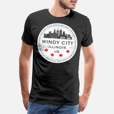 Windy City The Windy City Chicago Illinois USA - Premium T-shirt herr