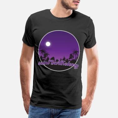 Sports St. Barthelemy's purple paradise - Men's Premium T-Shirt