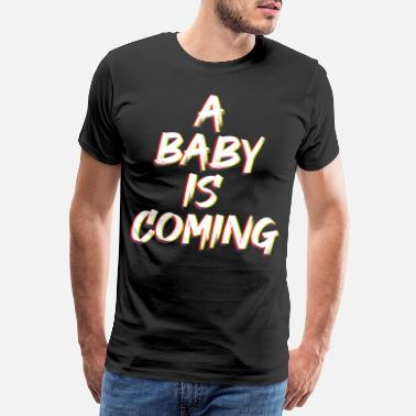 Favor Baby shower A baby is coming sweet sex revelation - Men's Premium T-Shirt
