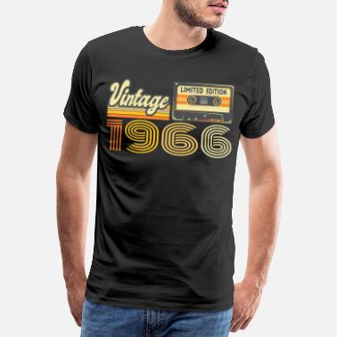 Production Year Vintage 1966 Cassette Mixtape - 54th Birthday - Men's Premium T-Shirt