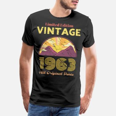 Beam 1963 Retro Vintage Limited Edition Birthday All Or - Men's Premium T-Shirt