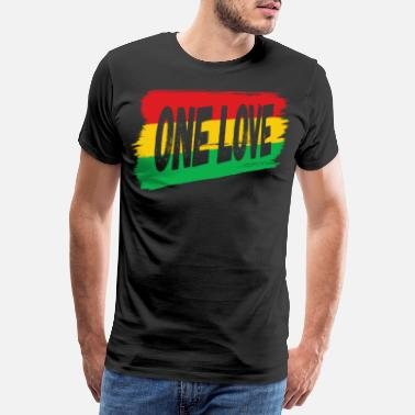 Rudeboy Roots Reggae One Love Jamaica Reggaeton Gift - Men's Premium T-Shirt