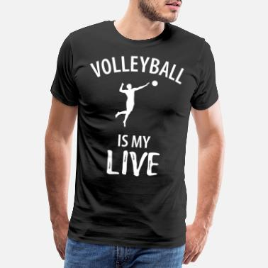 Volleyball Team Volleyball sport team play squad gift - Men's Premium T-Shirt