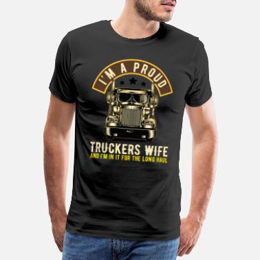 Curtain Truck driver - Men's Premium T-Shirt