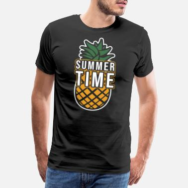 Pineapple Pineapple summer fruit gift exotic fruit Hawaii - Men's Premium T-Shirt