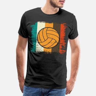 Beachball Volleybal Retro Volleyballer Gift Strandbal - Mannen premium T-shirt