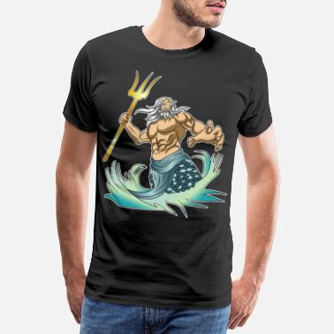 Greek Mythology Greek mythology Poseidon Greek - Men's Premium T-Shirt