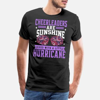 Turnen Cheerleaders Dancing Pompom Pompoms Gift Squads - Mannen premium T-shirt