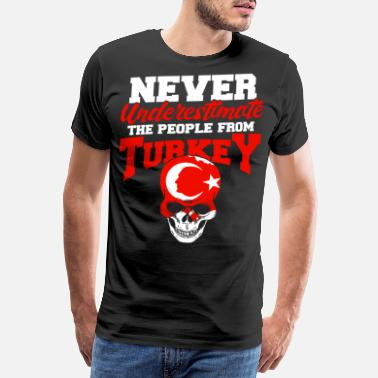Half Moon Turkey Crescent Ankara Istanbul Gift - Men's Premium T-Shirt
