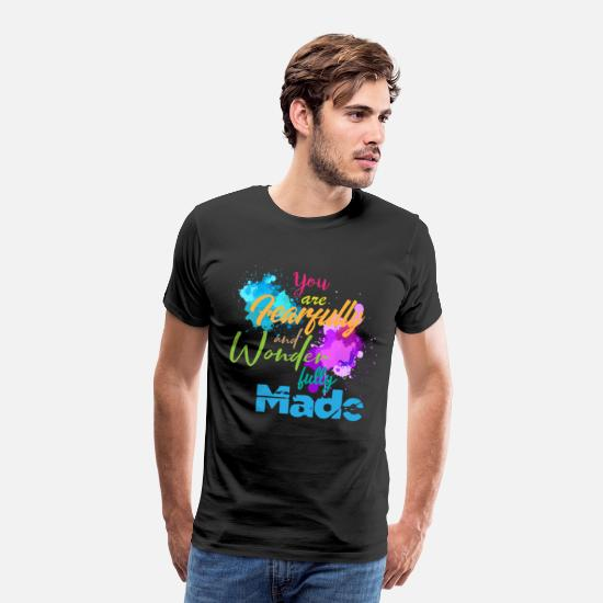 Love T-Shirts - Fully made fearfully wonder made fully made - Men's Premium T-Shirt black