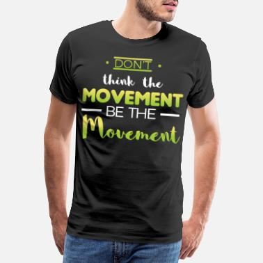 Handstand Awesome and Cool Parkour Tshirt Design Movement - Men's Premium T-Shirt