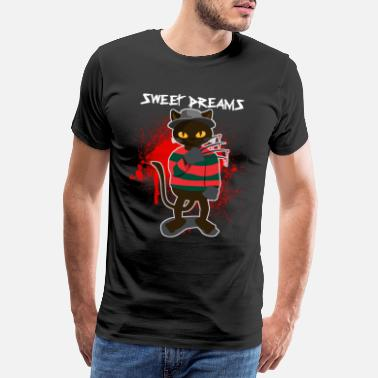 Freddy Cat Sweet Dreams Freddy Horror Un cauchemar effrayant - T-shirt Premium Homme