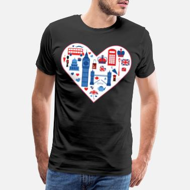 Royal Air Force London Tower Bridge Union Jack Britisch Geschenk - Männer Premium T-Shirt
