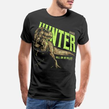Dinosaur T. Rex Wild Hunter - Men's Premium T-Shirt