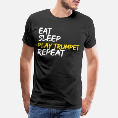 Game Eat Sleep Game Trumpet Repeat - T-shirt premium Homme