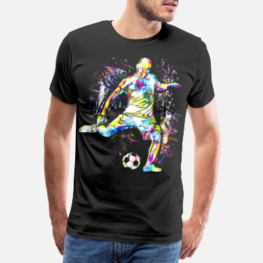 Spielernummer Soccer - soccer player - playing soccer - Men's Premium T-Shirt