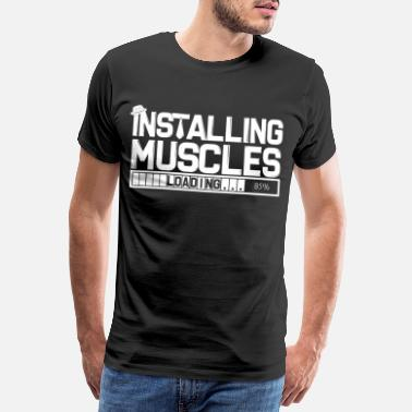 Tanks Muscles Training Sexy Dumbbells Weights Workout - Men's Premium T-Shirt
