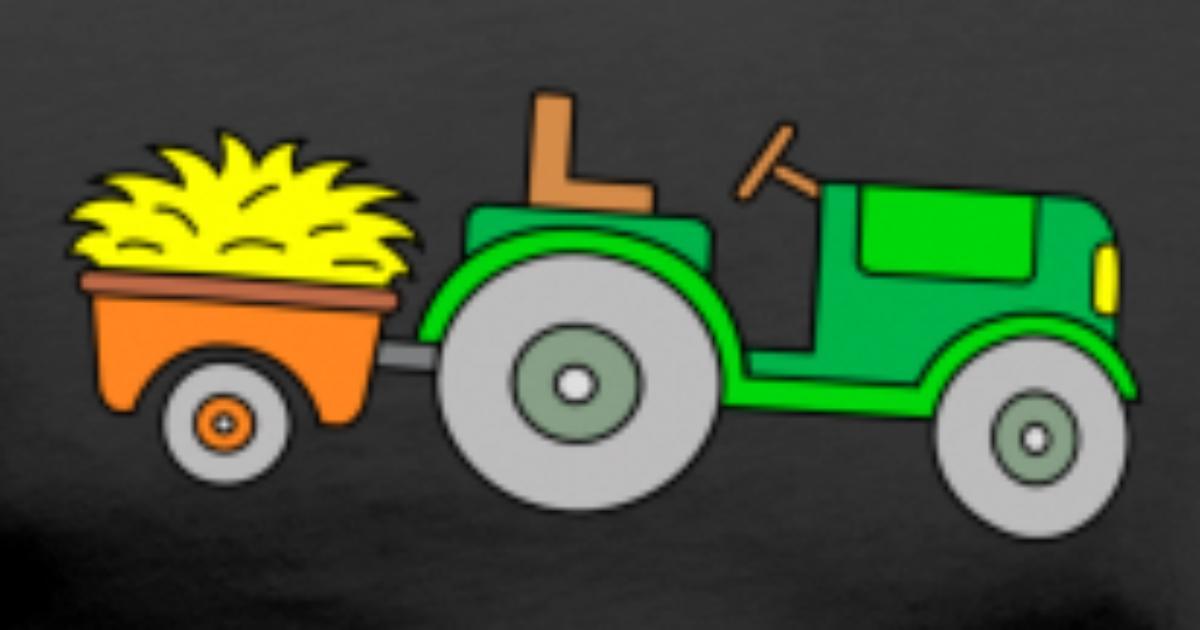 traktor  traktor mit anhänger  trecker männer premium t