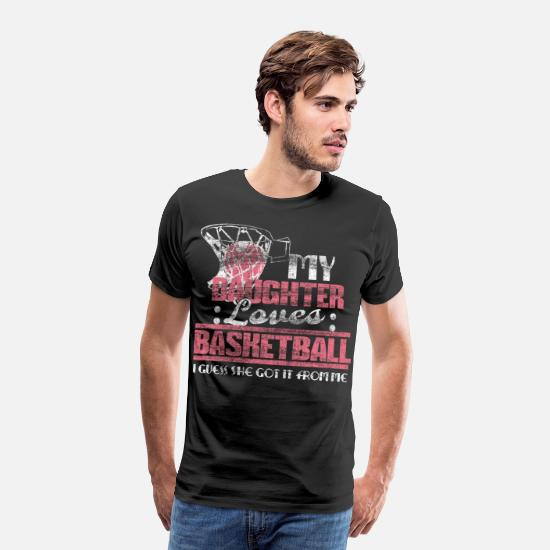 Birthday T-Shirts - Mother daughter basketball gift idea - Men's Premium T-Shirt black