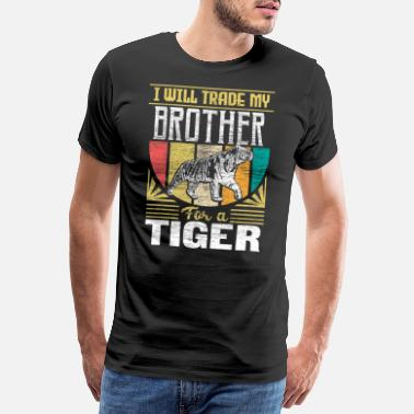 Requin Tigre Tiger Jungle Idée cadeau - T-shirt premium Homme